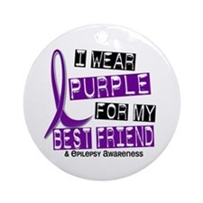 I Wear Purple 37 Epilepsy Ornament (Round)