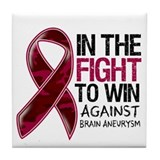Fight Against Brain Aneurysm Tile Coaster