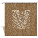 Celtic Letter V Shower Curtain