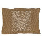 Celtic Letter V Pillow Case