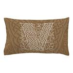 Celtic Letter V Pillow Case