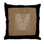 Celtic Letter V Throw Pillow