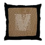 Celtic Letter V Throw Pillow