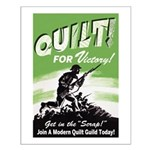 Quilt For Victory! Small Poster