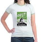 Quilt For Victory! Jr. Ringer T-Shirt