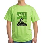 Quilt For Victory! Green T-Shirt