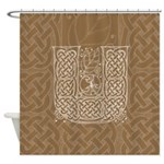 Celtic Letter U Shower Curtain