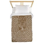 Celtic Letter U Twin Duvet Cover
