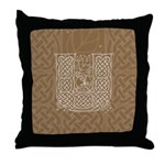 Celtic Letter U Throw Pillow