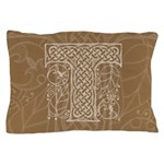 Celtic Letter T Pillow Case