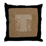 Celtic Letter T Throw Pillow