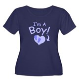 I'm A Boy Women's Plus Size Scoop Neck Dark T-Shir