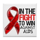 In The Fight To Win AIDS Tile Coaster