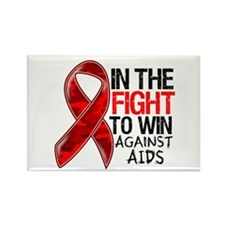 In The Fight To Win AIDS Rectangle Magnet