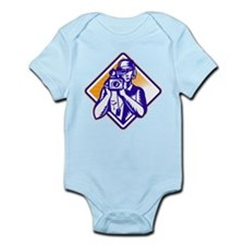 film crew cameraman Infant Bodysuit
