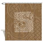Celtic Letter S Shower Curtain