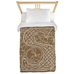 Celtic Letter S Twin Duvet Cover