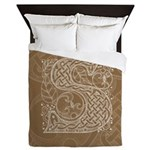 Celtic Letter S Queen Duvet Cover