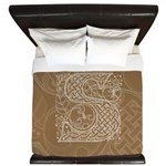Celtic Letter S King Duvet Cover