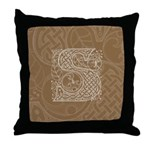 Celtic Letter S Throw Pillow