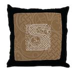 Celtic Letter S Throw Pillow