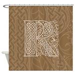 Celtic Letter R Shower Curtain