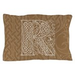 Celtic Letter R Pillow Case