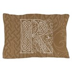 Celtic Letter R Pillow Case
