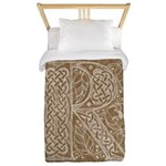 Celtic Letter R Twin Duvet Cover