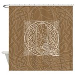 Celtic Letter Q Shower Curtain
