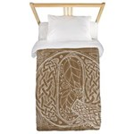 Celtic Letter Q Twin Duvet Cover