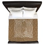 Celtic Letter Q King Duvet Cover