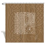 Celtic Letter P Shower Curtain