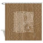 Celtic Letter P Shower Curtain