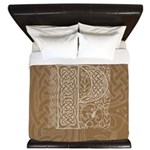 Celtic Letter P King Duvet Cover