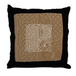 Celtic Letter P Throw Pillow