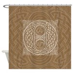 Celtic Letter O Shower Curtain