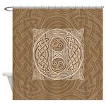 Celtic Letter O Shower Curtain