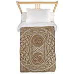 Celtic Letter O Twin Duvet Cover