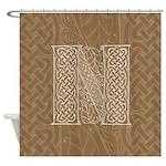 Celtic Letter N Shower Curtain