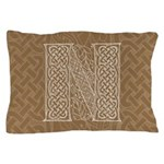 Celtic Letter N Pillow Case