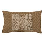 Celtic Letter N Pillow Case