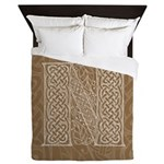 Celtic Letter N Queen Duvet Cover