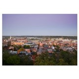 High angle view of a city, Mississippi River, Dubu