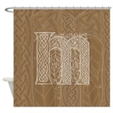Celtic Letter M Shower Curtain