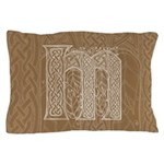 Celtic Letter M Pillow Case