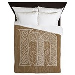 Celtic Letter M Queen Duvet Cover
