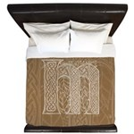 Celtic Letter M King Duvet Cover