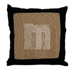 Celtic Letter M Throw Pillow