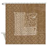 Celtic Letter L Shower Curtain